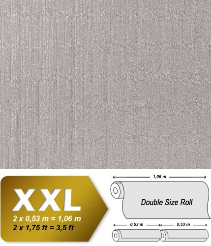 Wallpaper wall non-woven matrix-mosaic EDEM 940-34 luxury embossed heavy-weight steel-grey 10,65 sqm (114 sq ft) by Edem (Image #2)