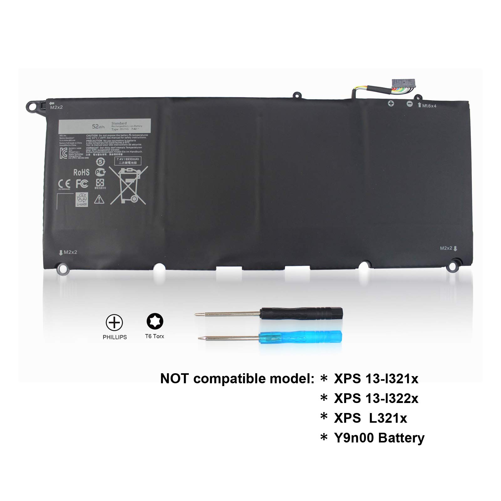Bateria 7.4v Para Dell Xps 13-9343 13-9350 Jd25g Jhxpy Rwt1r 5k9cp 0n7t6 90v7w 090v7w 0drrp 00drrp 12