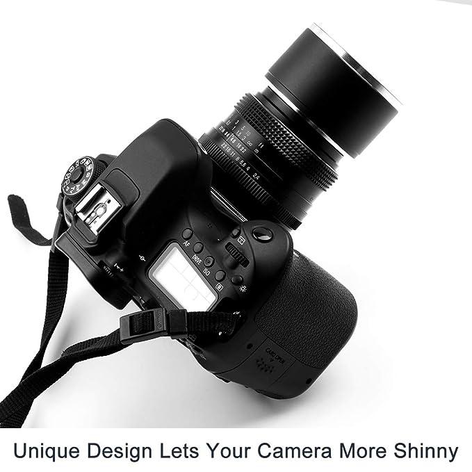 Fotover pa/ño de Limpieza Parasol met/álico con Tapa Central para Objetivo Canon Nikon Sony Pentax Olympus Fuji Sumsung Leica