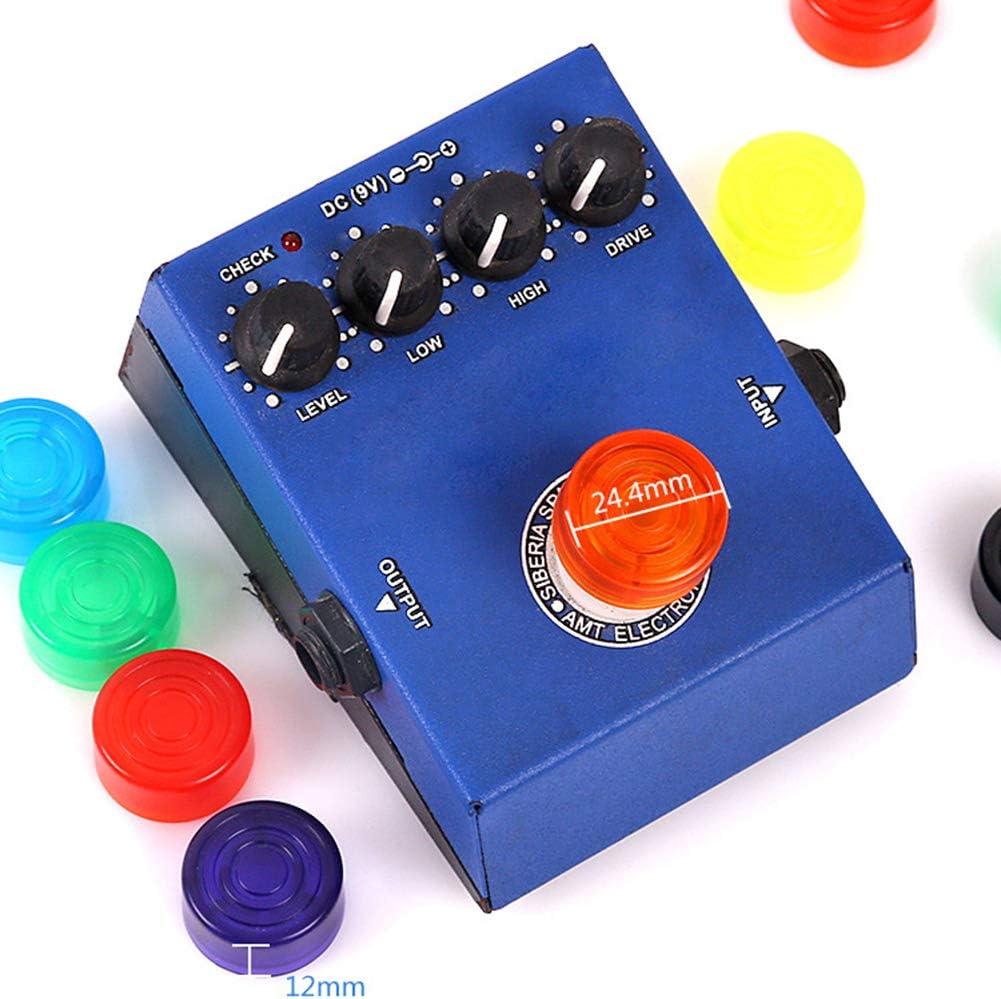 Geshiglobal Lot de 10 boutons de p/édale pour guitare /électrique Orange