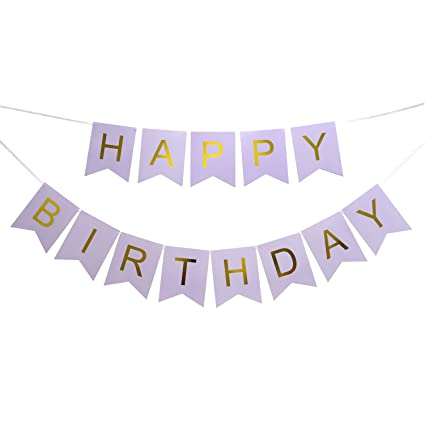 amazon com lovely biton large purple happy birthday wall banner