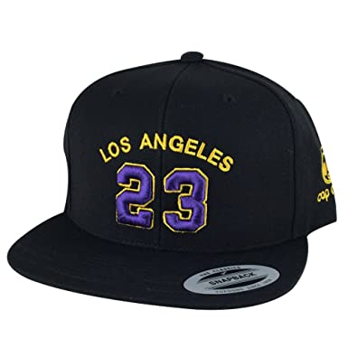 0aa26a7bd2a Los Angeles Player  23 X Lakers Color Snapback Hat Cap - Black Purple Gold   Amazon.in  Clothing   Accessories