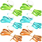 3 Pack LED Light Shoelaces, FineGood Nylon Shoes Laces with Four Flashing Modes for Dancing Hip-hop Cycling Running Hiking Skating Sport - Blue, Orange, Green