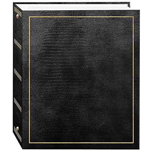 Pioneer Photo Albums Solid Covers, Promotional 100 Page Magnetic 3-ring Album - Black by Pioneer