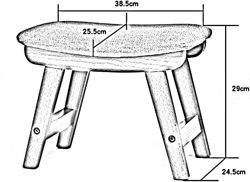 DINJUEN Stuhl Massivholz-Schemel-Osmane-Schuh-Bank-Freizeit-Tisch-Schemel-Wohnzimmer-kreative Bank-Zuhause Erwachsen-Sofa-Schuh-Bank-Gewebe-Schemel waschbar Stille Anti-Beleg dauerhaft Mehrzweckgebrau