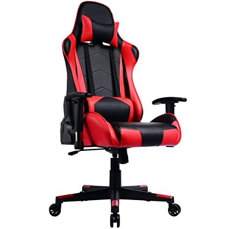 le dernier 5e5c5 2d2e9 Gaming Chair with Reclining Backrest, Racing Style High Back Office Chair -  Chaise Gamer