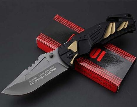 KNIFE SHOP Defensa Personal al Aire Libre Navaja Suiza Cuchillo Plegable Multifunción -F89: Amazon.es: Deportes y aire libre