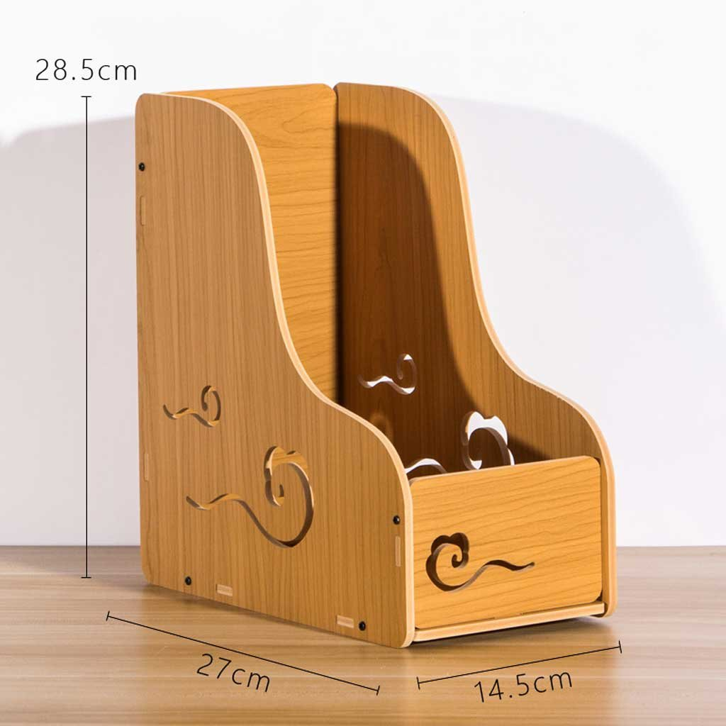 Amazon.com: YUAN-bangong Wooden Magazine File Holder Home Office ...