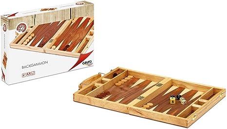 Cayro - Maletín Backgammon Marquetería - Juego de razonamiento y Estrategia - Juego de Mesa Tradicional - Desarrollo de Habilidades cognitivas e inteligencias múltiples - Juego de Mesa (609): Amazon.es: Juguetes y juegos