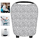 Multi-Use Nursing Breastfeeding Cover Baby Car Set Cover Canopy Shopping Cart Cover Swaddle Blanket for Infants Newborns Toddlers Shower Gift (X)