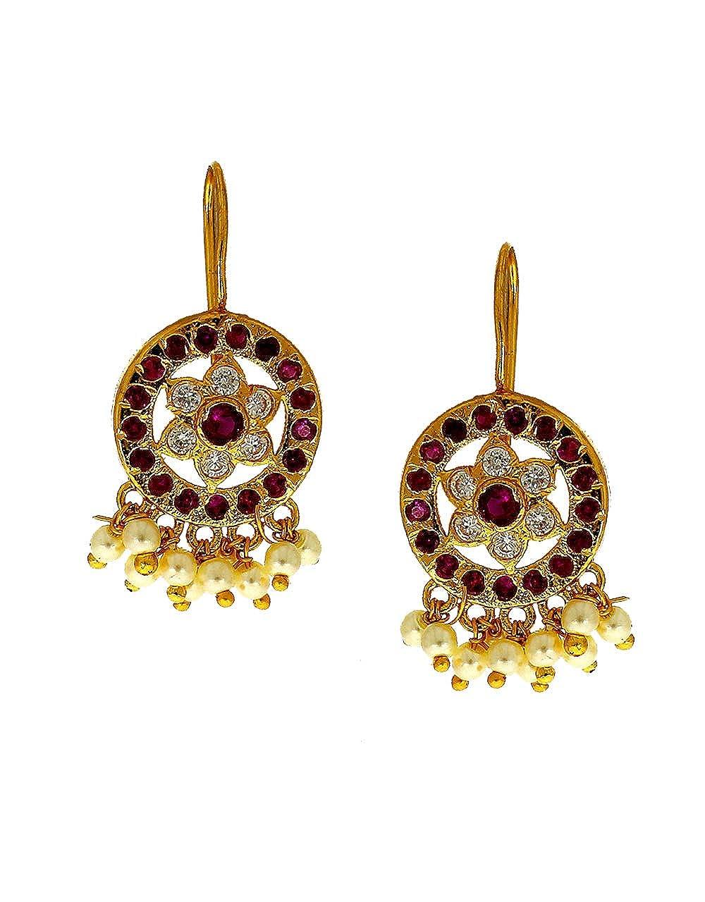 Anuradha Art Pink Colour Oval Shape Wonderful Trendy Studs Earrings For Women//Girls