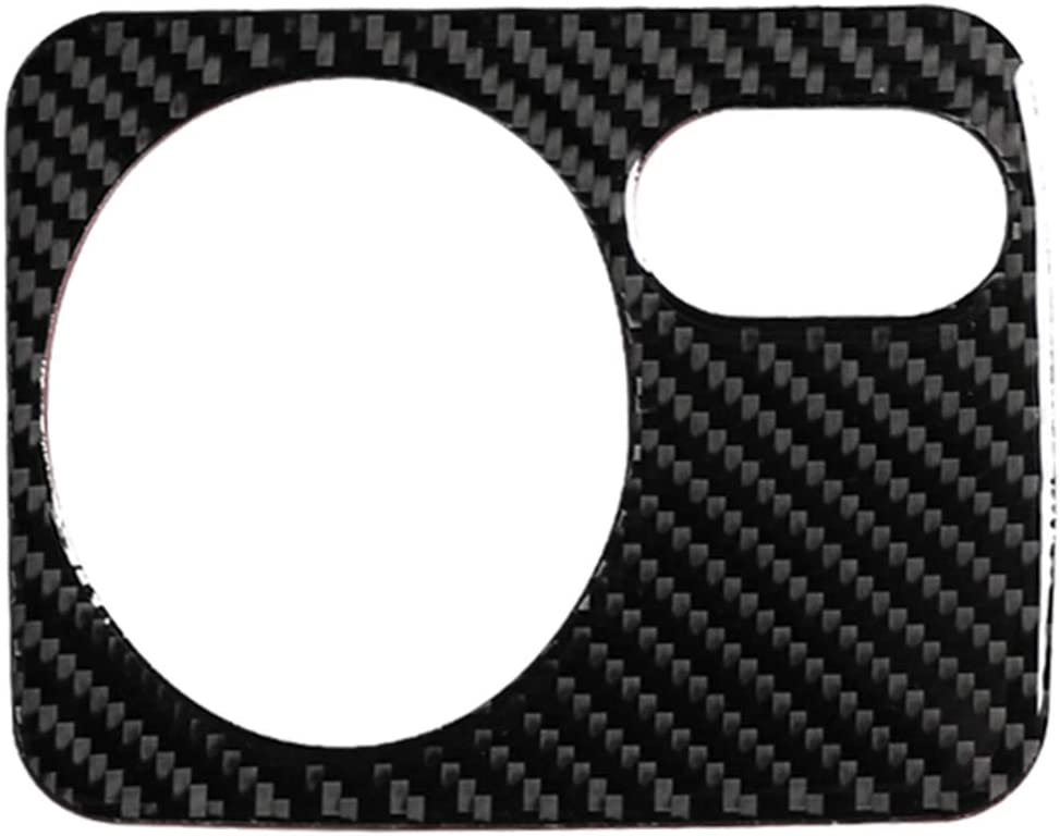 Carbon Fiber Dashboard Headlight Switch Button Panel Frame Decal Cover Trim for VW Volkswagen Golf MK6 GTI R20 2008-2012
