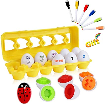 Baby Education Toy Smart Eggs Shape Puzzle Twisted Identify Color Learning Toys