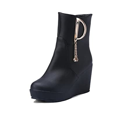 Women's High Heels Soft Material Low-Top Solid Zipper Boots