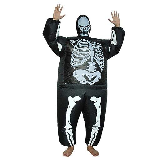 LEZDPP Horror de Halloween del Traje Inflable Esqueleto ...