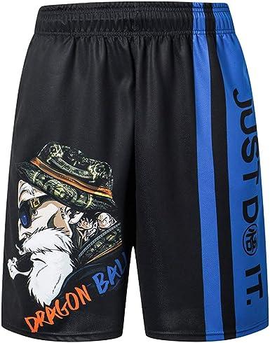 Pantalones De CháNdal para Hombres Sin CinturóN Dragon Ball Suelto ...