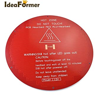 Amazon com: 3D Printer - 3D Printer Heat Bed PCB Round MK3 Heat Bed