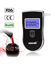 GREENWON Breathalyzer Portable Breath Alcohol Tester Easy Digital Drug Tests with 5 Mouthpieces (818)