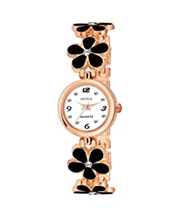 On Time Octus Analog White Dial Girl's and Women's Watch (Black)