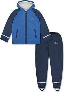 4eb78026d33ace normani Outdoor Sports Kinder wasserdichter Regenanzug Set aus Regenjacke  und Regenhose für Jungen und Mädchen 5000
