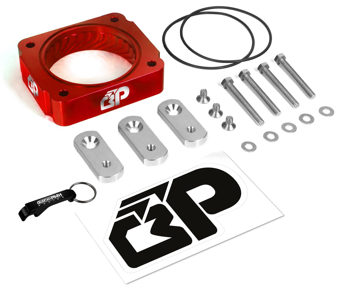 BlackPath - Ford F-150 F-250 Super Duty F-350 Super Duty Throttle Body Spacer Performance (Red) T6 Billet