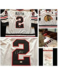 Duncan Keith Chicago Blackhawks Signed Autograph White Hockey Jersey  2. JSA  COA 3911325d8