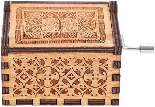 Caja de música de madera manivela – 1 pieza de madera manivela de ...