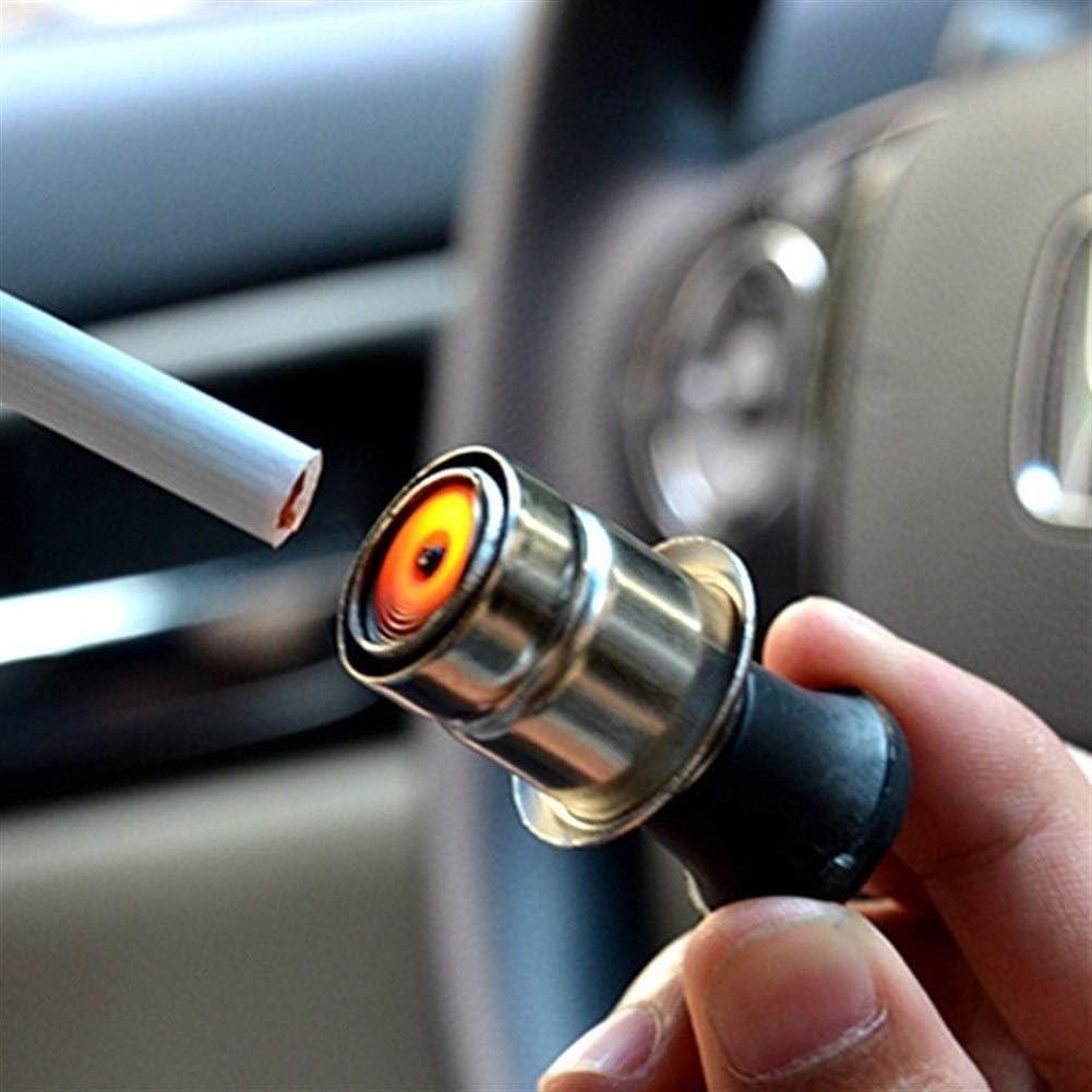 Encendedor Coche A prueba de viento del cigarrillo sin llama encendedor de energ/ía del enchufe del z/ócalo 12V metal auto universal del enchufe del coche profesional de cigarros adaptador Encendedor Co