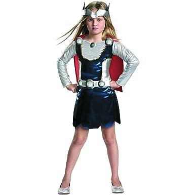 Amazon.com Marvel Universe Thor Girl Costume Red/White/Blue X-Small Clothing  sc 1 st  Amazon.com & Amazon.com: Marvel Universe Thor Girl Costume Red/White/Blue X ...