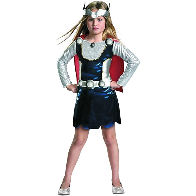 Amazon.com: Marvel Universe Thor Girl Costume, Red/White/Blue, X Small:  Clothing
