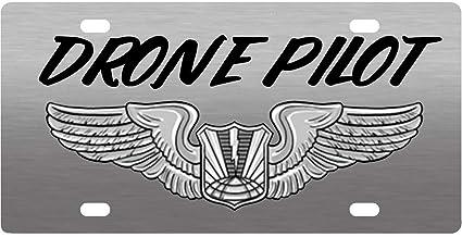 Amazon com : Bernie Gresham License Plate Cover Drone Pilot