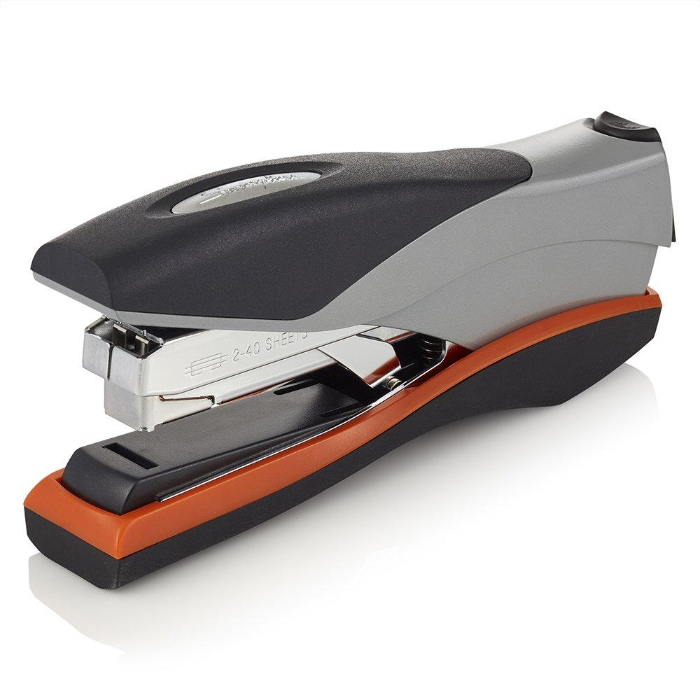 Swingline Stapler, Optima 40, Full Strip Desktop Stapler, 40 Sheet Capacity, Low Force, Orange/Silver/Black (87845)
