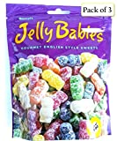 jelly baby candy - Gustaf's Gummi Jelly Babies, Gourmet English Style Sweets, 7 oz Bag (Pack of 3)