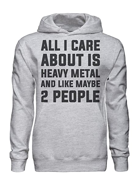 graphke All I Care About Is Heavy Metal And Like Maybe 2 People Sudadera con Capucha para Hombre XX-Large: Amazon.es: Ropa y accesorios