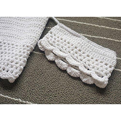 Juleya Las mujeres florales bordados de encaje de ganchillo encubrir bralet chaleco de la tapa blanca Blanco