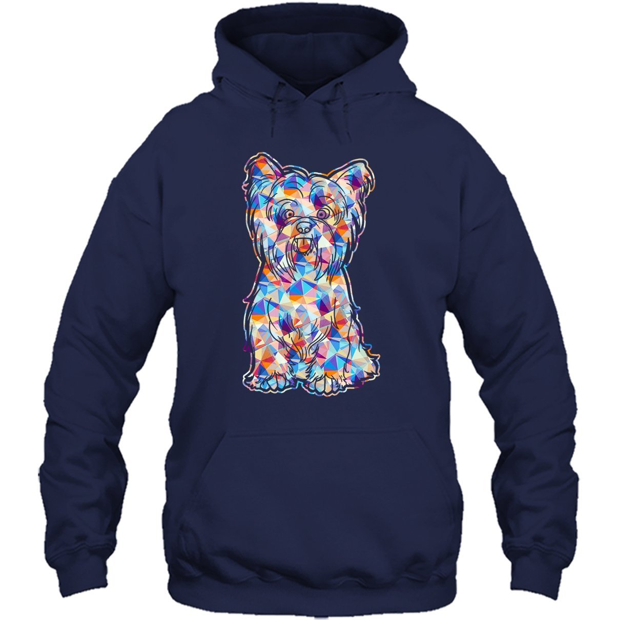 Yorkie Cool Tshirt Yorkie Geometric Colorful Tee Shirt Design for Men and Women