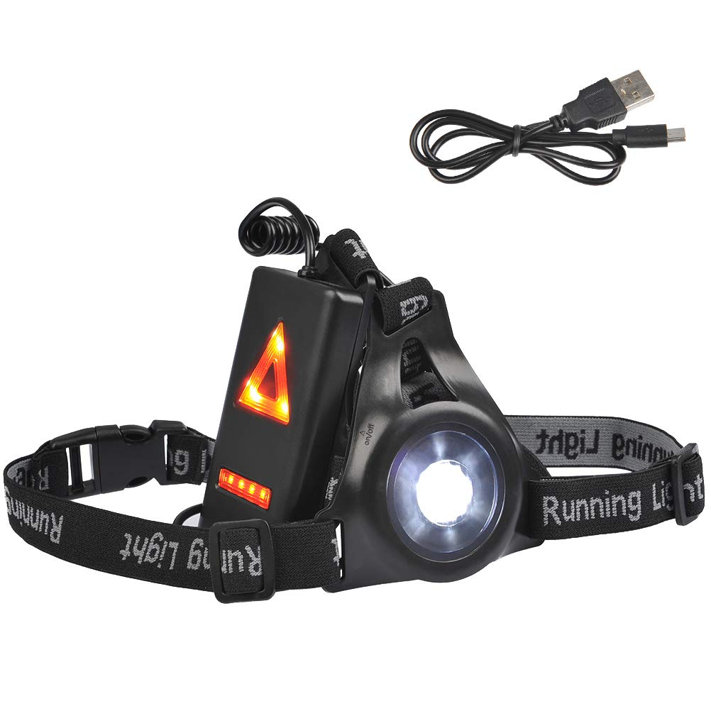 Running Light for Runner Chest LED Lamp Reflective Safety Jogging USB Run Tourch