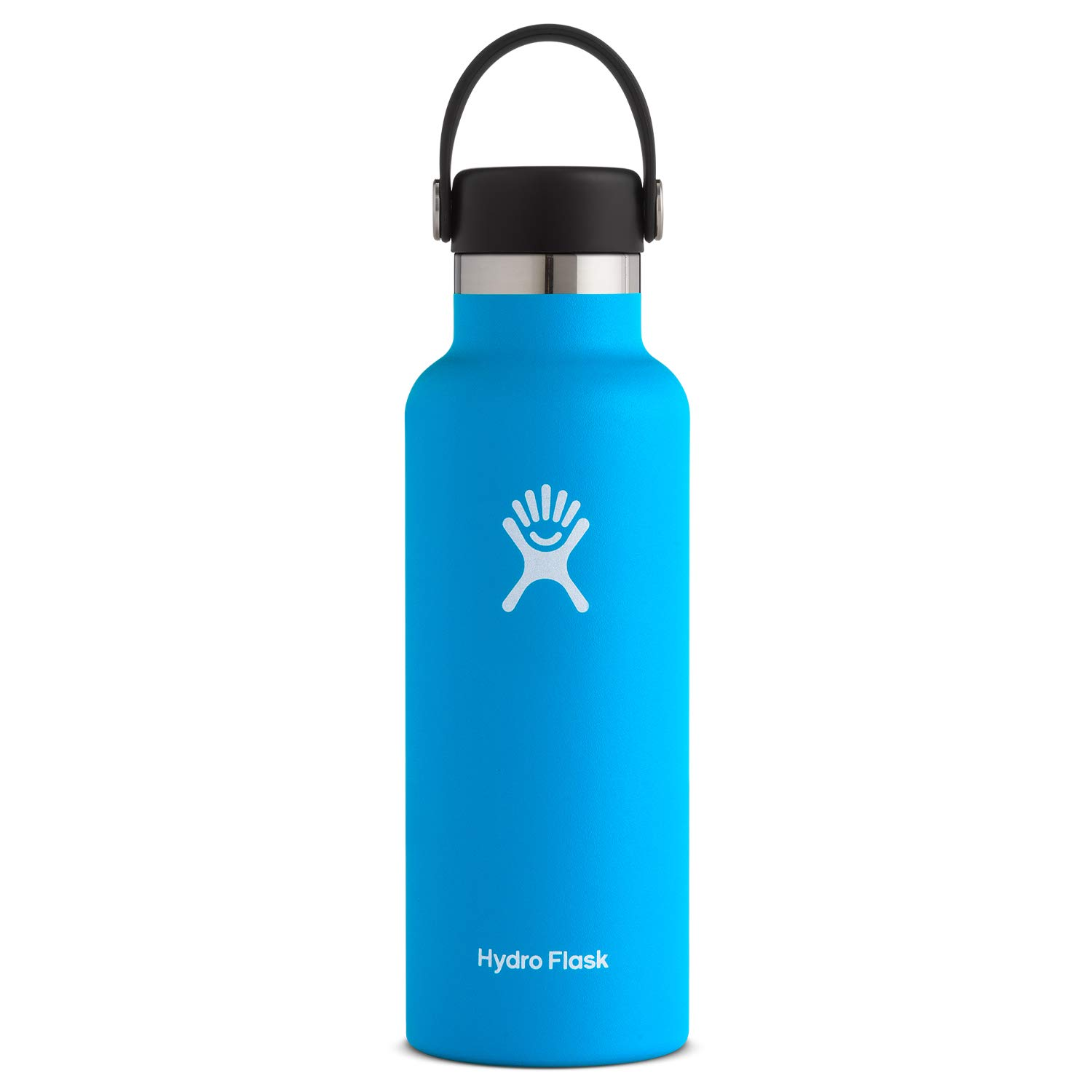 Hydro Flask Standard Mouth Water Bottle, Flex Cap - 18 oz, Pacific by Hydro Flask