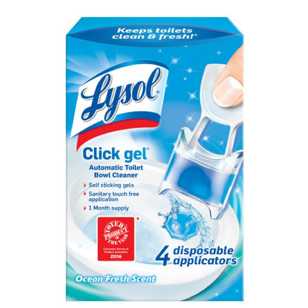 Lysol Click Gel Automatic Toilet Bowl Cleaner, Ocean Fresh, 4ct (Pack of 5) by Lysol