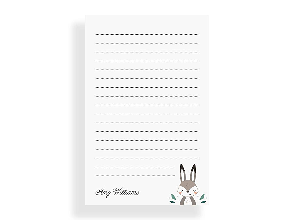 classy feminine stationery business stationary letter writing paper 50 sheet pad DOUBLE BORDER SCRIPT personalized notePAD