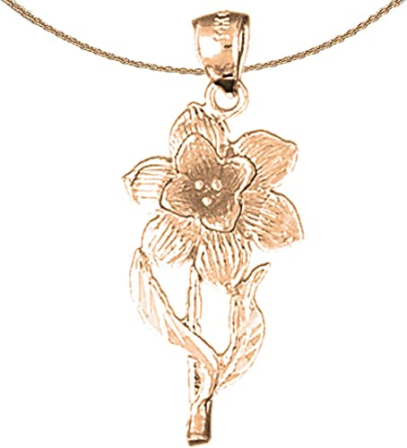 14K Rose Gold-plated 925 Silver Carousel Pendant with 18 Necklace Jewels Obsession Carousel Necklace