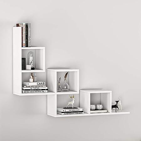 Homidea Tail Wall Shelf Hanging Shelf Decorative Shelf Bookshelf In Cool Design Amazon De Kuche Haushalt