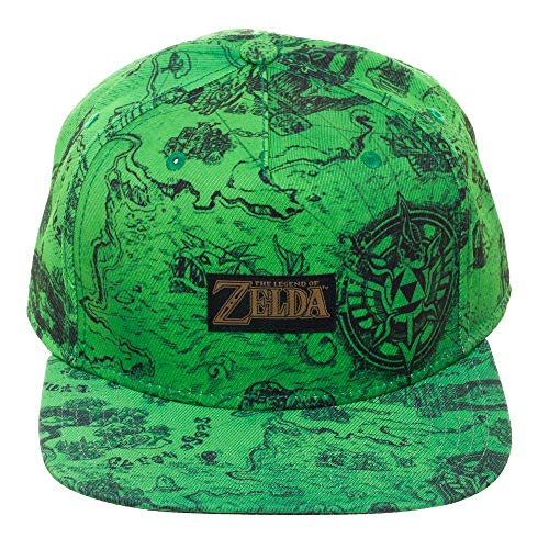 The Legend of Zelda Gameplay Map Snapback Hat