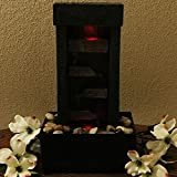Sunnydaze Tiered Shelves Lighted Tabletop Fountain, 10 Inch