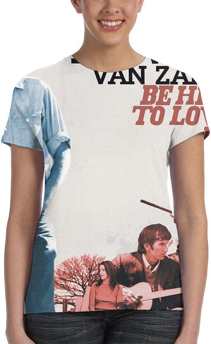 Yuliang David Crosby Be Here to Love Me Womans 3D Printed T Shirts Black