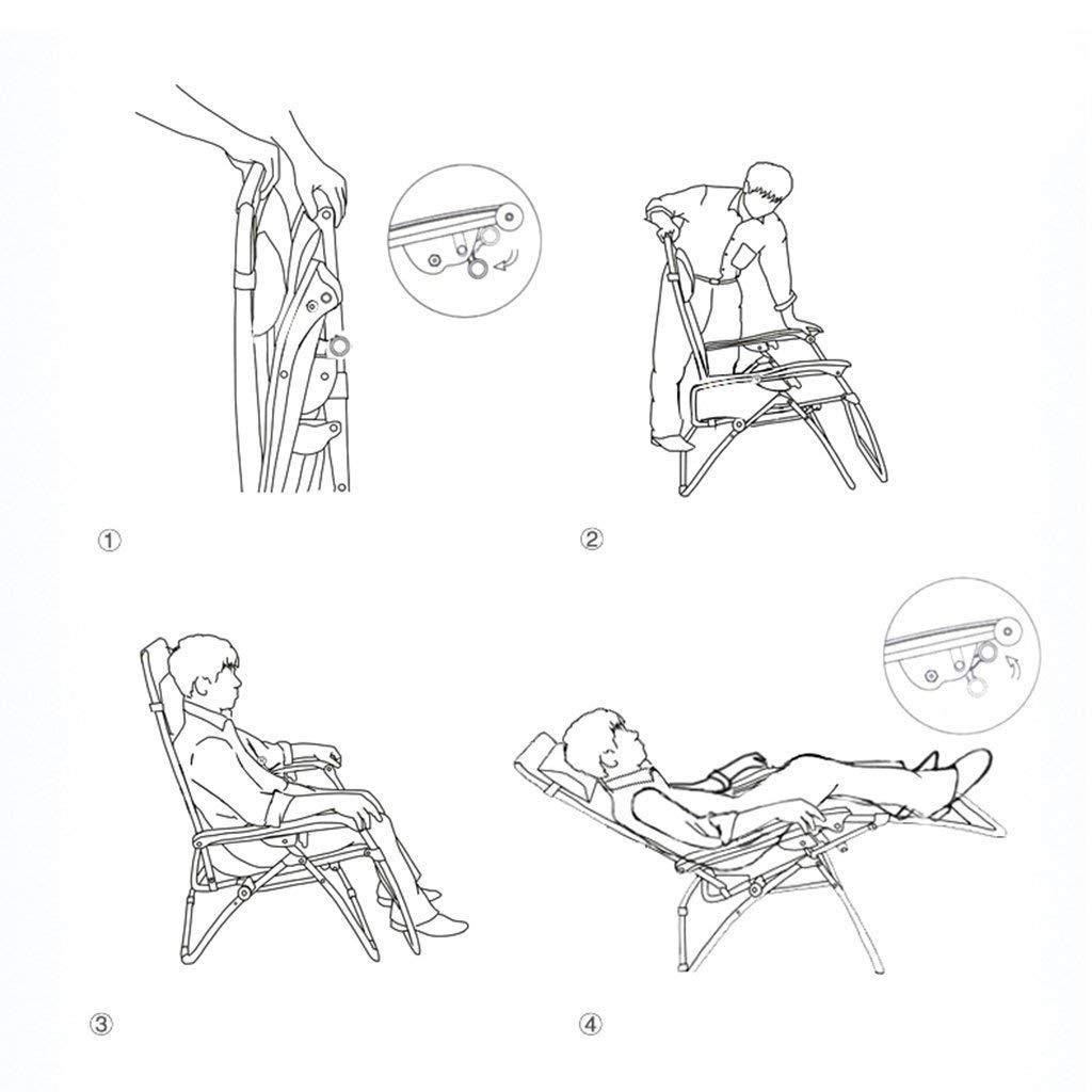 FuweiEncore Sillas Plegables Simples y Creativas, sillones ...