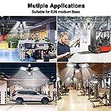 Led Garage Lights, 9600LM 80W Deformable Garage