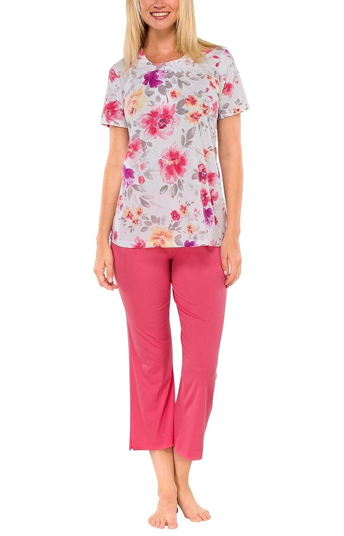 Schiesser Damen Schlafanzug Pyjama kurz rosé