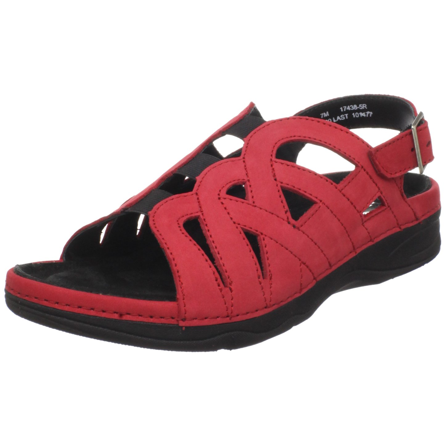 Drew Shoe Women's Sandy Sandal B003YUEZW2 12 B(M) US|Red Nubuck