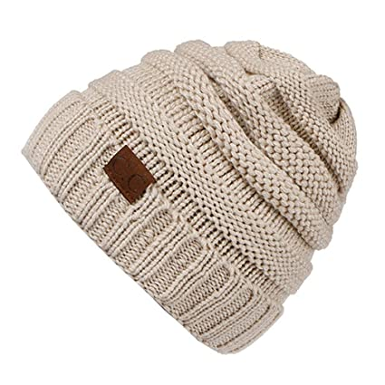 3bc4d275aba KCJDKW UEN Hat Women s Winter Caps Knitted Hat Stretchy Beanies for Ladies  Soft Crochet Hat Female Warm